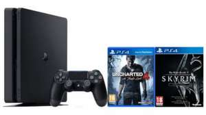PlayStation 4 Slim 500GB with Uncharted 4 and Skyrim Special Edition (with Code GAMESRADAR) £209.99 Zavvi
