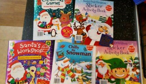 Children's activity and sticker books 69p at Aldi