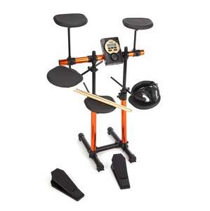 Rockjam Electronic Drum Kit (7 Drums + Sound Module + Headphones + 3 month free lessons) WAS £249 now £124.99@ Amazon