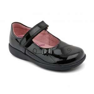 Paper, Black Patent Girls Riptape School Shoes £26 / £28.99 delivered @ Startrite shoes