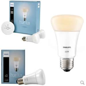 Philips hue Lux Starter Kit White (2x White 9W ES bulbs and 1st gen bridge) - £32.95 w free shipping - LuzernTech