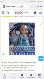Elsa singing doll £17 Tesco - Free c&c