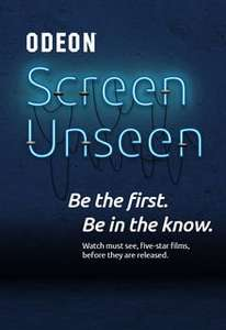 Screen Unseen at Odeon Cinemas 12th Dec for only £5/ticket