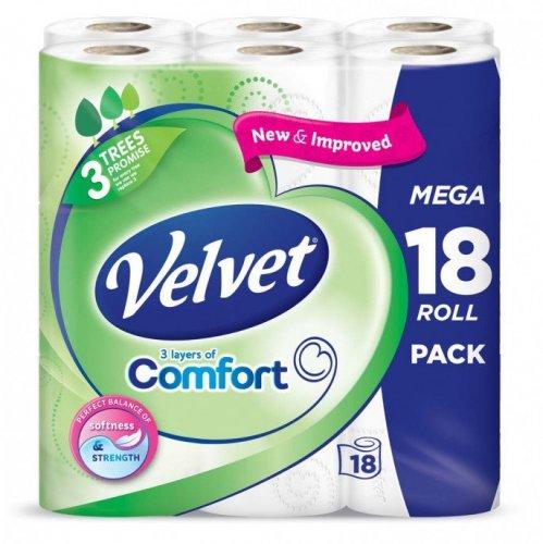Triple Velvet Toilet Roll  18PK £4.99  @ Poundstretcher