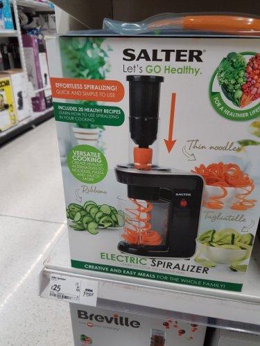 Salter Electric Spiralizer £25 in Asda - Capehill Birmingham