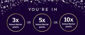 10x Nectar points every time you shop when you spend £60 @ Sainsbury's