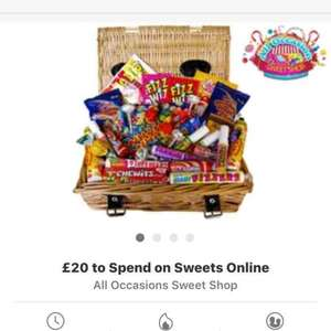 £20 to spend on sweets online for £10 @ groupon