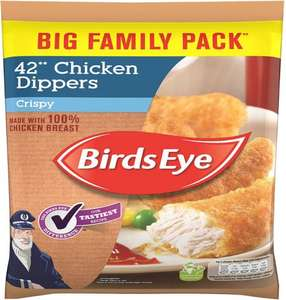 Birds Eye Crispy Chicken Dippers (42 per pack - 770g) was £4.00 now £2.50 @ Tesco