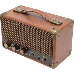 Retro Bluetooth Speaker/ Amp (gift for guitarists in your life) £37, Inta-Audio