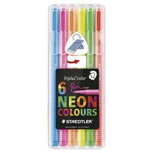 Staedtler Triplus Colour Pens Neon 6 Pack 1/2 PRICE £2.50 WAS £5 TESCO DIRECT (FREE NEXT DAY C+C)