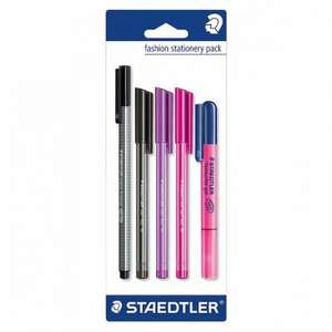 Staedtler Fashion Stationery Set 5 Pack 1/2 PRICE £2.50 WAS £5 TESCO DIRECT (FREE NEXT DAY C+C)