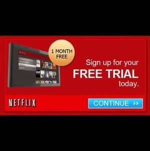 Netflix 1 month free trial for new users