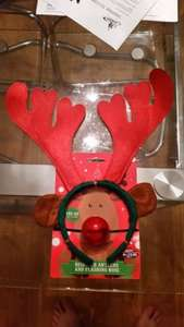 Reindeer Antlers & Flashing Nose at B&M 89p or 4 for £3