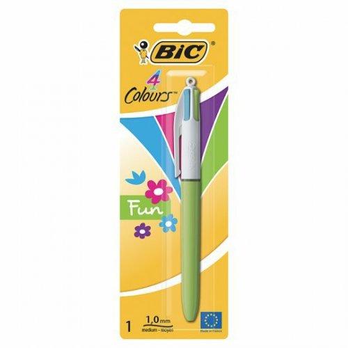 Bic 4 Colour Fashion Ballpoint Pen 1/2 PRICE £1 WAS £2 TESCO DIRECT (FREE NEXT DAY C+C)