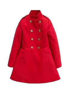 Any chic looking red color military coat for your princess? £12.99 @ Littlewoods clearance Ebay