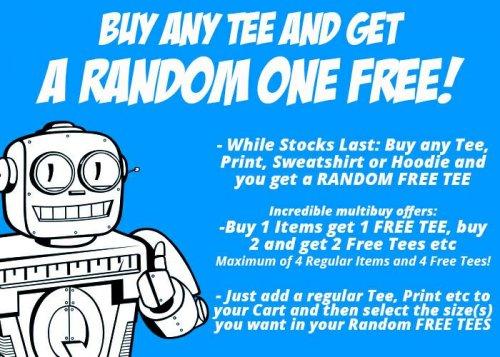 Qwertee buy one,  get one random tee free! £8