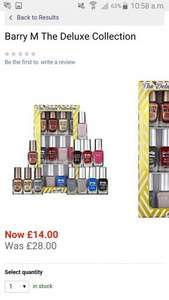 Barry M nail Polish collection £14 @ House of fraser