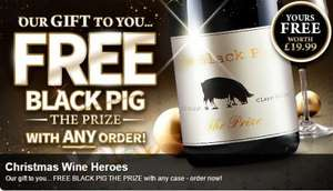 Free black pig wine worth £19.99 with any case @ Virgin Wines