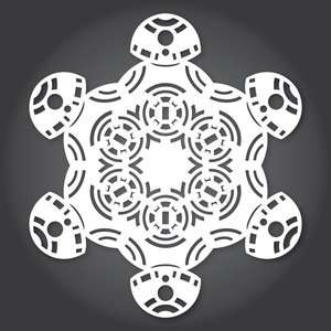 Cut out snowflake designs for Star Wars, Frozen & Guardians of the Galaxy (from http://www.anthonyherreradesigns.com)