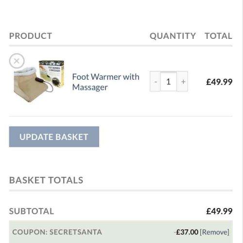 heated foot warmer massager to £49.99 - £12.99 @ Weekdeals4less