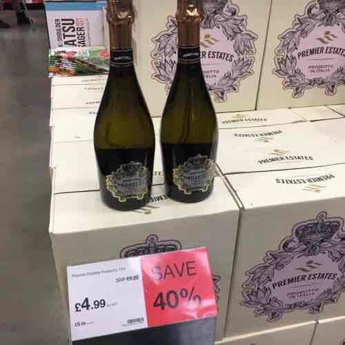 Premier Estates Prosecco £5.99 a bottle 75cl @ JTF