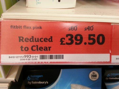FITBIT FLEX Pink £39.50 - instore @ Sainsbury's Weymouth