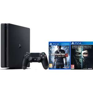 PlayStation 4 Slim 500GB with Uncharted 4 and Dishonored 2 £219.99 Delivered @ Zavvi