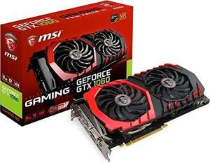 MSI NVIDIA GeForce GTX 1060 GAMING 6GB GDDR5 Memory Pci Express 3.0 Graphics Card - Black - £283.84 @ Amazon (Temporarily out of stock)