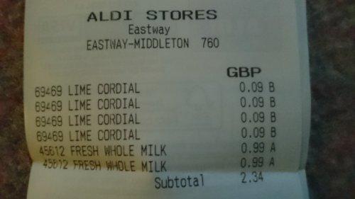Rose's Lime Cordial 1litre 9p @ Aldi instore