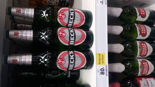 Becks bottles 660ml 80p in-store Tesco