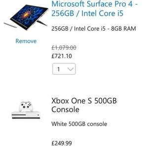 Microsoft surface pro 4 with Xbox S (one game) £971.10