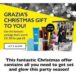 4 issues of Grazia and free Viva Liberata tan kit worth £51.50 for £4