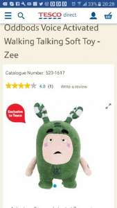 Oddbods voice Activated walking talking toy - Tesco - £20 online / £9 Instore