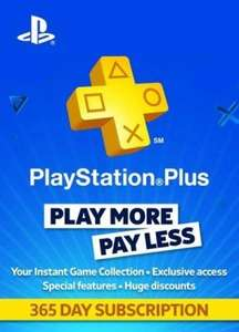 Ps Plus 12 months (Press-start) [£33.54] -Back in stock
