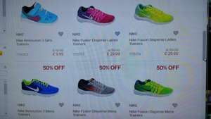 Nike Revolution and Fusion Men / Women Trainers 50% Off ! £22.49-£29.99