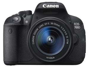 Canon EOS 700D Digital SLR + 18-55mm IS STM Lens for £479 -  £289 (using Amex + Canon Cashback) at Jessops (INSTORE)