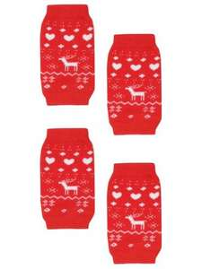Festive Pet / Dog Leg Warmers £4 @ M&Co free click and collect