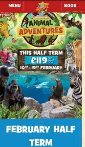 Family of 4 Ticket for Chessington Zoo and Sea Life Centre (inc overnight stay) - £119