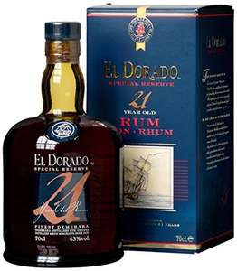 El Dorado Special Reserve 21 year Old Guyanan Rum 70cl £55 at Approved Food (+P&P from £5.99) normally £78-85