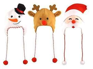 3 Assorted Adult Christmas Hats - - One Pack of Each Supplied at Amazon sold by Robelli - £4.99