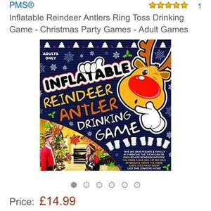 inflatable reindeer drinking game £14.99 at Amazon free delivery for prime - Sold by Balloon Shop and Fulfilled by Amazon (or add £3.99 non Prime)