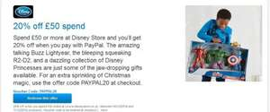 Paypal offers :  20% off Disney - 10% off Ernest Jones - 10% off H.Samuel - 20% Off Buyagift and Many more offers
