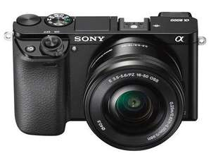 Sony A6000 Compact System Camera in Black + 16-50mm Power Zoom Lens + Jessops Lens Cleaning Tissues (Twin Pack) for £300.99 (using Amex) at Jessops (INSTORE Plus Free SanDisk Extreme 16GB Memory Card & Tecno Holster Case)