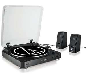 Audio Technica LP60 USB Turntable and Two Active SP121 Speakers With Free Delivery for £99