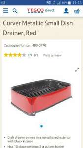 Curver metallic small dish drainer half price £3 @ Tesco direct free store next day delivery