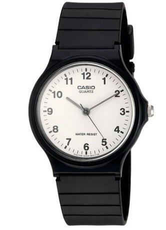 Casio Men's Quartz Watch with White Dial Analogue Display and Black Resin Strap £5.60 prime / £9.59 non prime @ Amazon