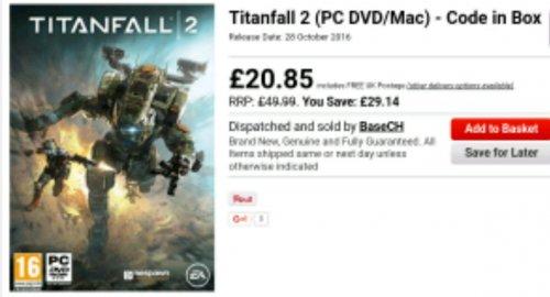 Titanfall 2 (PC DVD/Mac) - Code in Box £20.85 @ Base