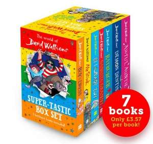 The World of David Walliams: Super-Tastic Box Set (7 Books) £21.99 Delivered With Code FBWELCOME2016 @ agreatread