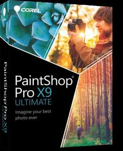 PaintShop Pro X9 Ultimate & bonus collection, full download version, 75% off - £19.99 @ Corel
