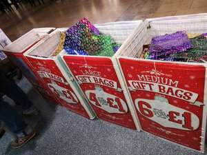 Card Factory:Christmas gift bags (6 small, 4 medium or 3 large) All £1.